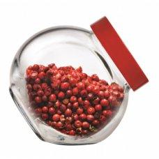 Банка для сыпучих продуктов с красной крышкой Белла 200мл