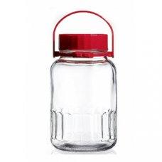 Банка для сыпучих продуктов с красной крышкой Харвест Б 3000мл, Артикул: 80005, Производитель: Pasabahce (Россия)