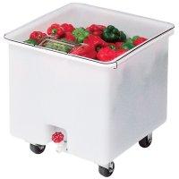 Контейнер для продуктов передвижной с краном, белый Cambro 121л