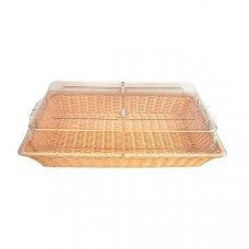 Корзина для хлеба прямоугольная бежевый ротанг с крышкой 53*32,5*10см (GN 1/1), Артикул: 95001104, Производитель: Китай