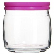 Банка для сыпучих продуктов с розовой крышкой Чешни 650мл, Артикул: 43003, Производитель: Pasabahce-завод Бор (Россия)