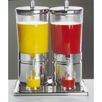 Диспенсер для соков, холод напитков, 2*6л h=52см нерж колба пласт прозр с 2 охлажд элем APS