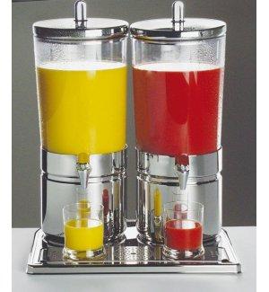 Диспенсер для соков, холод напитков, 2*6л h=52см нерж колба пласт прозр с 2 охлажд элем APS, Артикул: 10720, Производитель: APS (Германия)