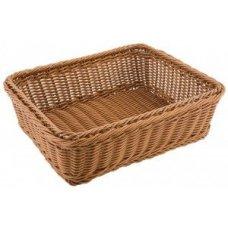 Корзина для хлеба прямоугольная коричневая полиротанг APS (GN 1/1) 53*32,5*10см, Артикул: 40270, Производитель: APS (Германия)
