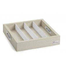 Емкость для столовых приборов/пакетир чая, сахара 4 отделения Pintinox 300*300*60мм, Артикул: 51604600, Производитель: Pintinox (Италия)