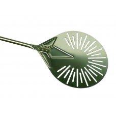 Лопата для пиццы поворотная перфорированная нержавеющая Azzurra Gimetal d=23см, l=150см, Артикул: I-23F, Производитель: GI.METAL (Италия)