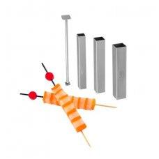 Нож для вырезания фигурных канапе Квадрат (3 формы, 1 толкатель) нерж Tellier , Артикул: ID1207, Производитель: Tellier (Франция)