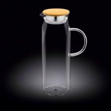 Кувшин с крышкой бамбук + нержавеющая сетка Thermo Glass 1,5л, Артикул: 888208, Производитель: Wilmax (Англия)