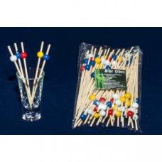 Пики деревянные цветные Жемчужина 100 штук (L=12см), Артикул: 64-10005, Производитель: Китай