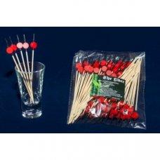 Пики деревянные красные Шайба 100 штук (L=12см), Артикул: 64-10016, Производитель: Китай