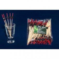 Пики деревянные черные Шайба 100 штук (L=12см), Артикул: 64-10017, Производитель: Китай
