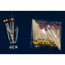 Пики деревянные красно-желтые Шарики 100 штук (L=10см), Артикул: 64-10018, Производитель: Китай