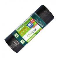 Мешок для мусора черный OptiLine 60л, 25шт