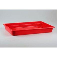 Гастроемкость полипропиленовая GN 1/1 h=65мм (красная)