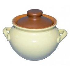 Горшок для тушения/запекания желто-коричневый Беларусь 0,5л, Артикул: 3373, Производитель: Белхудожкерамика (Беларусь)