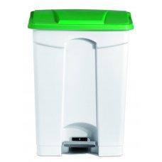 Бак для мусора с педалью, белый с зеленой крышкой Still Casa 70л, Артикул: DIFP70 VE, Производитель: Stil Casa (Италия)