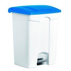 Бак для мусора с педалью, белый с синей крышкой Still Casa 70л, Артикул: DIFP70 BL, Производитель: Stil Casa (Италия)