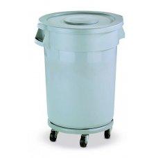 Бак для мусора на колесах, серый с серой крышкой Still Casa 120л, Артикул: 2100G, Производитель: Stil Casa (Италия)