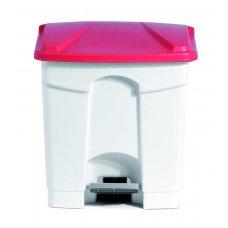 Бак для мусора с педалью, белый с красной крышкой Still Casa 30л, Артикул: DIFP30 R, Производитель: Stil Casa (Италия)