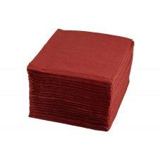 Салфетки однослойные бордовые 400 штук (24*24см), Артикул: 1760, Производитель: Мастергласс (Россия)