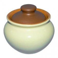 Горшок для тушения/запекания желто-коричневый Беларусь 0,5л, Артикул: 3298, Производитель: Белхудожкерамика (Беларусь)