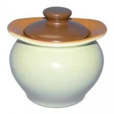 Горшок для тушения/запекания желто-коричневый Беларусь 0,5л, Артикул: 3675, Производитель: Белхудожкерамика (Беларусь)