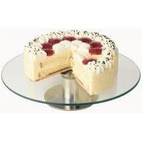 Подставка для торта нержавеющая вращающаяся APS d=30см, h=7см