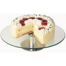Подставка для торта нержавеющая вращающаяся APS d=30см, h=7см, Артикул: 444, Производитель: APS (Германия)
