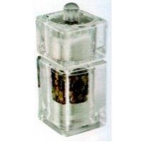 Мельница для перца и соли квадратная акриловая Abert 9*4 см