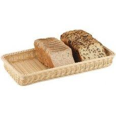 Корзина для хлеба прямоугольная из полиротанга APS 50*25*6см, Артикул: 40161, Производитель: APS (Германия)