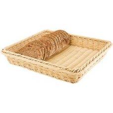 Корзина для хлеба прямоугольная из полиротанга APS 53*32,5*10см, Артикул: 40240, Производитель: APS (Германия)