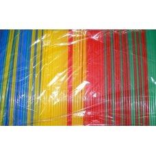 Трубочки коктейльные цветные прямые 1000 штук (0,5*24см)