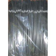 Трубочки коктейльные черные с гофрой 250 штук (0,5*24см)