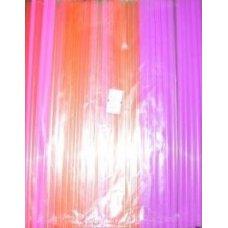 Трубочки коктейльные флуоресцентные прямые 250 штук (0,5*21см)
