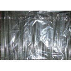 Трубочки коктейльные черные с гофрой 1000 штук (0,5*24см)