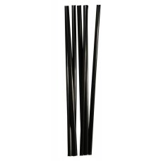 Трубочки коктейльные черные прямые 250 штук (0,8*24см)