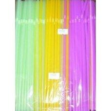 Трубочки коктейльные флуоресцентные с гофрой 250 штук (0,5*24см)