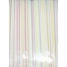 Трубочки коктейльные полосатые прямые 250 штук (0,5*24см)
