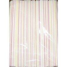 Трубочки коктейльные полосатые с гофрой 250 штук (0,5*24см)