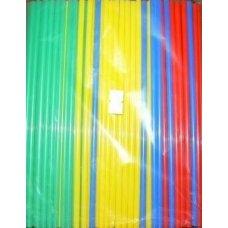 Трубочки коктейльные цветные прямые 250 штук (0,5*21см)