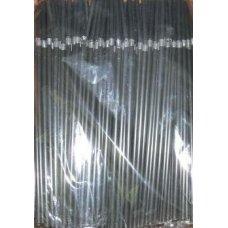 Трубочки коктейльные черные с гофрой 250 штук (0,5*21см)