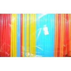 Трубочки коктейльные цветные MINI 400 штук (0,5*12,5см), Артикул: 5125400цп, Производитель: Мастерпласт (Россия)