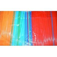 Трубочки коктейльные цветные MIX с гофрой 1000 штук (0,5*24см)