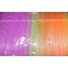 Трубочки коктейльные флуоресцентные с гофрой 1000 штук (0,5*24см)