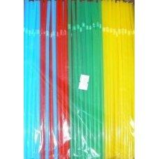 Трубочки коктейльные цветные MIX с гофрой 250 штук (0,5*24см)
