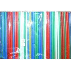 Трубочки коктейльные цветные MINI 400 штук (0,5*14см)