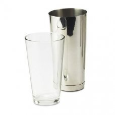 Шейкер нержавеющий со стеклянным стаканом Boston Bonzer 0,85л, Артикул: BSBQ0150+BSBQ0151, Производитель: Mitchell & Cooper (Великобритания)