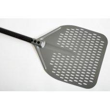 Лопата для пиццы прямоугольная перфорированная Gimetal 33*33см, L=150см, Артикул: ACB-32RF, Производитель: GI.METAL (Италия)