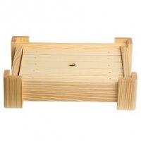 Блюдо-подставка деревянная прямоугольная 30*24*7,5см