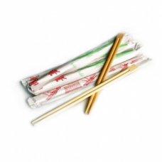 Палочки одноразовые бамбуковые (в индивидуальной упаковке) 100 штук, L=23см, Артикул: 49867, Производитель: